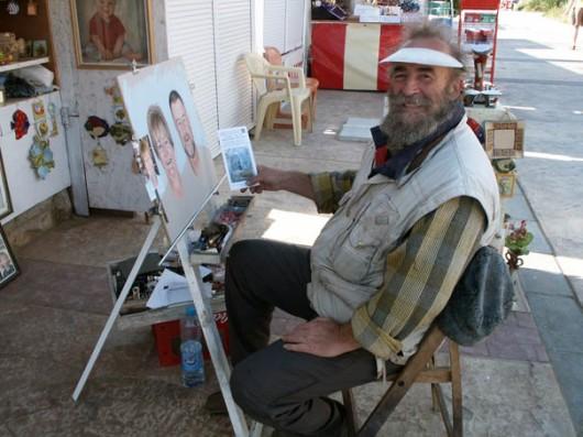 צייר מקומי (מחזיק הזמנה לתערוכתי -שהתקיימה אז בישראל...)